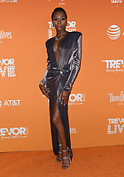 02 December 2018 - Beverly Hills, California - Dominique Jackson. 2018 TrevorLIVE Los Angeles held at The Beverly Hilton Hotel. <br /> CAP/ADM/BT<br /> &copy;BT/ADM/Capital Pictures