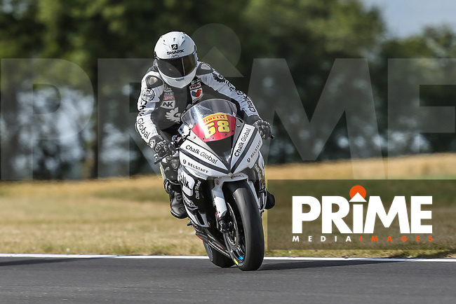 Tom Neave of the Neave Twins team (No. 68) during the Pirelli National Superstock 600 Championship Sunday warm up at Round 5 of the 2017 MCE British Superbikes Championship  at Snetterton Circuit, Norwich, England on 2 July 2017. Photo by David Horn.