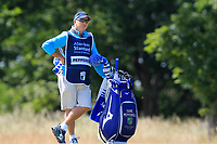 Caddy for Eddie Pepperell (ENG) on the 1st during Round 4 of the Aberdeen Standard Investments Scottish Open 2019 at The Renaissance Club, North Berwick, Scotland on Sunday 14th July 2019.<br /> Picture:  Thos Caffrey / Golffile<br /> <br /> All photos usage must carry mandatory copyright credit (© Golffile | Thos Caffrey)