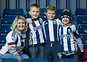 2nd December 2017, The Hawthorns, West Bromwich, England; EPL Premier League football, West Bromwich Albion versus Crystal Palace; A family of West Bromwich supporters dressed in team kit in the stands before the match