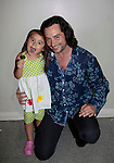 Constantine Maroulis with his daughter Malena James, (Bold and The Beautiful - American Idol) (he sang This is the Moment) at Loukoumi & Friends Concert held on June 23, 2014 at the Scholastic Theatre, New York City, New York.  Proceeds will benefit The Loukoumi Make a Difference Foundation. Foundation first project will be the Make A Difference with Loukoumi television special airing on FOX stations Oct 19-20. (Photo by Sue Coflin/Max Photos)