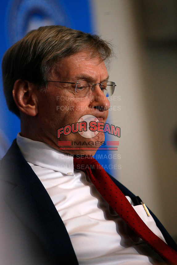 "Baseball Commissioner Bud Selig at the announcement of ""Jackie Robinson Day"", which will be celebrated at every Major League Baseball game to be played on April 15th of every MLB season, at Dodger Stadium on April 15, 2007 in Los Angeles, California. (Larry Goren/Four Seam Images)"