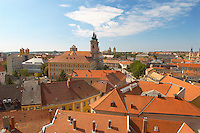Pan Tiled Roof Tops from Eger Castle - Hungary