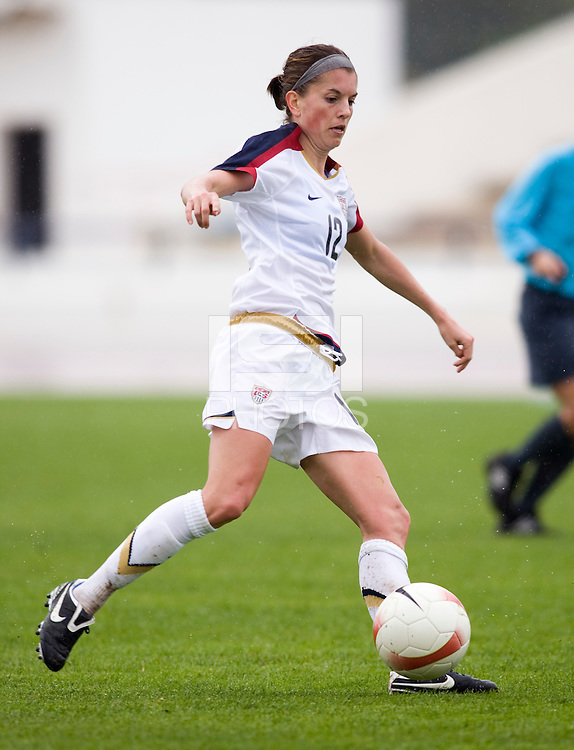 Angie Woznuk. The USWNT defeated Denmark, 2-0, in Lagos, Portugal during the Algarve Cup.