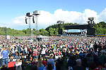 The large crowd at the Bon Jovi concert at Slane Castle. Photo:Colin Bell/pressphotos.ie