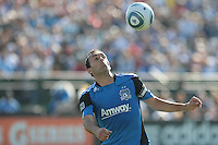 San Jose Earthquakes midfielder Ramiro Corrales (12) controls the ball. The San Jose Earthquakes tied the Los Angeles Galaxy 0-0 at Buck Shaw Stadium in Santa Clara, California on June 25th, 2011.