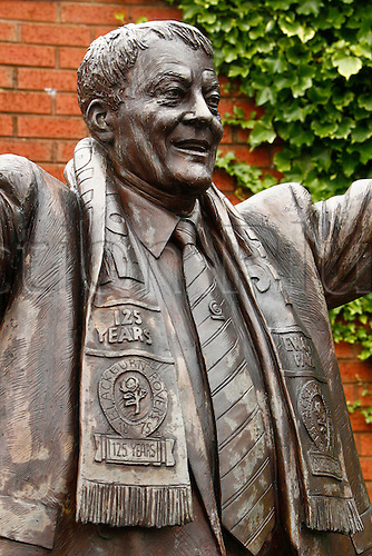 21.02.2016. Ewood Park, Blackburn, England. Emirates FA Cup 5th Round. Blackburn Rovers versus West Ham United. The statue outside Ewood Park  of the club's major benefactor in the 1990s, the late Sir Jack Walker.