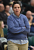Kerri Rehnback, Long Beach girls volleyball head coach, watches from the sideline during the team's match against Commack in the Class AA Long Island Championship at Farmingdale State College on Sunday, Nov. 11, 2018.