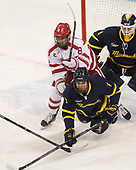 Ryan Cloonan (BU - 8), Jonathan Lashyn (Merrimack - 7), Collin Delia (Merrimack - 1) - The visiting Merrimack College Warriors defeated the Boston University Terriers 4-1 to complete a regular season sweep on Friday, January 27, 2017, at Agganis Arena in Boston, Massachusetts.The visiting Merrimack College Warriors defeated the Boston University Terriers 4-1 to complete a regular season sweep on Friday, January 27, 2017, at Agganis Arena in Boston, Massachusetts.