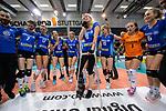 11.05.2019, Scharrena, Stuttgart<br />Volleyball, Bundesliga Frauen, Play-offs Finale, 5. Spiel, Allianz MTV Stuttgart vs. SSC Palmberg Schwerin<br /><br />Deutscher Meister 2019: Allianz MTV Stuttgart<br />Team tanzt fuer Julia Schaefer (#8 Stuttgart)<br /><br />  Foto © nordphoto / Kurth