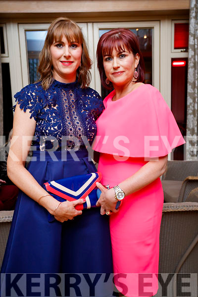 Siobhan Sheehy Slattery (Tralee) and Anne Marie Dineen (Ballyheigue), pictured at the Lee Strand Social, at Ballygarry House Hotel & Spa, Tralee, on Saturday night last.