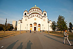 St. Sava Cathedral, Beograd..In its third century since it was first planned in the 1890s, St. Sava Cathedral was started in 1935 and the dome was raised in 40 days during 1989...It is the 10th largest church buildings in the world and the largest Orthodox Church any where.