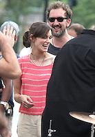 July 26, 2012 Keira Knightley, Director John Carney shooting on location at Washington Square Park for new VH-1 movie Can a Song Save Your Life? in New York City.Credit:© RW/MediaPunch Inc. /NortePhoto.com<br /> **SOLO*VENTA*EN*MEXICO**<br />  **CREDITO*OBLIGATORIO** *No*Venta*A*Terceros*<br /> *No*Sale*So*third* ***No*Se*Permite*Hacer Archivo***No*Sale*So*third*©Imagenes*con derechos*de*autor©todos*reservados*.