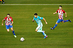 Atletico de Madrid's Diego Godin (l) and Koke Resurrecccion (r) and FC Barcelona's Luis Suarez during Spanish Kings Cup semifinal 1st leg match. February 01,2017. (ALTERPHOTOS/Acero)