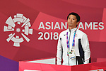 Yoshimitsu Moriyasu (JPN), <br /> AUGUST 29, 2018 - Judo : Women's -52kg at Jakarta Convention Center Plenary Hall during the 2018 Jakarta Palembang Asian Games in Jakarta, Indonesia. <br /> (Photo by MATSUO.K/AFLO SPORT)