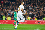 Karim Benzema of Real Madrid celebrates goal during La Liga match between Real Madrid and Real Sociedad at Santiago Bernabeu Stadium in Madrid, Spain. February 06, 2020. (ALTERPHOTOS/A. Perez Meca)