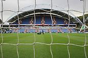 30th September 2017, The John Smiths Stadium, Huddersfield, England; EPL Premier League football, Huddersfield Town versus Tottenham Hotspur; Huddersfield groundsman prepares the pitch
