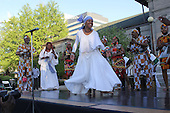 The Du Sable Museum of African AMerican History celebrated Yemanja Friday afternoon with music, dance, food and story telling. <br /> <br /> Yemanja is  known throught the Diaspora as the goddess of fresh water lakes, the essence of womanhood and the protector of children.