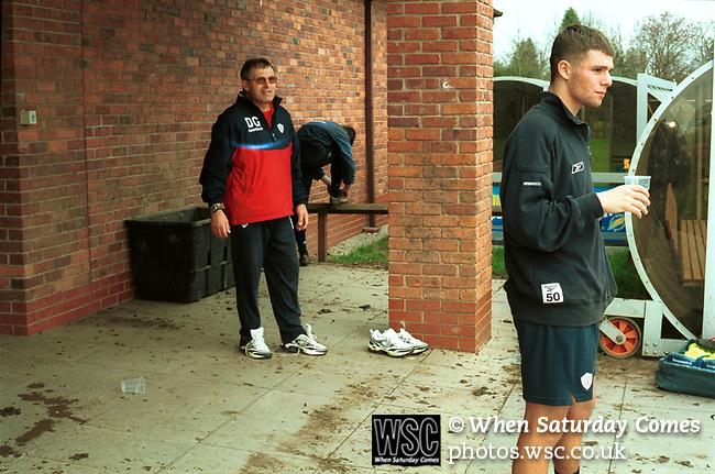 Crewe Alexandra training ground shoot, 2002. Photo by Tony Davis