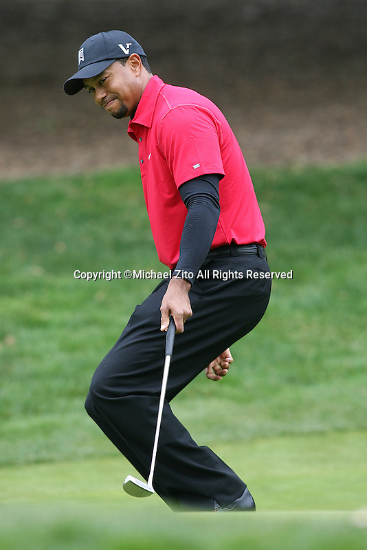 12/05/10 Thousand Oaks, CA:  Tiger Woods during the final round of the Chevron World Challenge. Held at the Sherwood Country Club in Thousand Oaks, CA. Graeme McDowell defeated Tiger Woods in a 1 hole playoff.