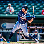 18 July 2018: New Hampshire Fisher Cats outfielder Connor Panas in action against the Trenton Thunder at Northeast Delta Dental Stadium in Manchester, NH. The Thunder defeated the Fisher Cats 3-2 concluding a previous game started April 29. Mandatory Credit: Ed Wolfstein Photo *** RAW (NEF) Image File Available ***
