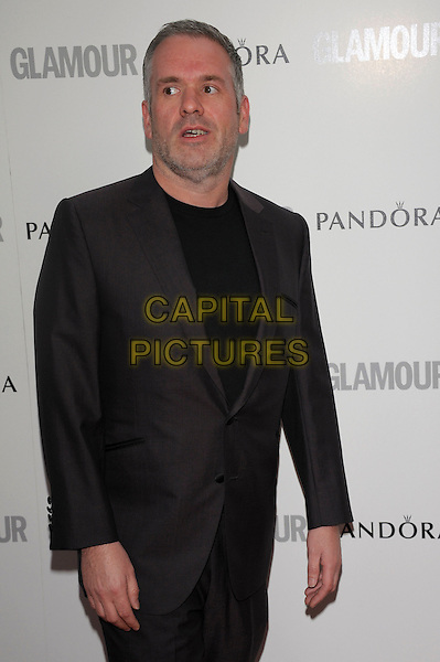 Chris Moyles.Women Of The Year 2012 - Glamour Awards, Berkeley Square, London, England..29th May 2012.half length black suit stubble facial hair .CAP/PL.©Phil Loftus/Capital Pictures.