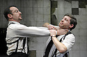 The Dumb Waiter by Harold Pinter.  Directed by Harry Burton .With Lee Evans as Gus , Jason Isaacs as Ben . Opens at The Trafalgar Studios  on 8/2/07   CREDIT Geraint Lewis