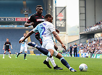 Bolton Wanderers' Sammy Ameobi competing with Blackburn Rovers' Ryan Nyambe <br /> <br /> Photographer Andrew Kearns/CameraSport<br /> <br /> The EFL Sky Bet Championship - Blackburn Rovers v Bolton Wanderers - Monday 22nd April 2019 - Ewood Park - Blackburn<br /> <br /> World Copyright © 2019 CameraSport. All rights reserved. 43 Linden Ave. Countesthorpe. Leicester. England. LE8 5PG - Tel: +44 (0) 116 277 4147 - admin@camerasport.com - www.camerasport.com