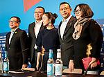 Actress Zhou Yun, Huang hung and Jiang Wen  promotes his film Yi bu zhi yao during the LXV Berlin film festival, Berlinale at Potsdamer Straße in Berlin on February 11, 2015. Samuel de Roman / Photocall3000 / Dyd fotografos-DYDPPA.