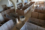 Church of Saint Mary, Old Dilton, Wiltshire, England, UK interior with box pews