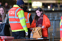 Security search bags during West Ham United vs Liverpool, Premier League Football at The London Stadium on 4th February 2019