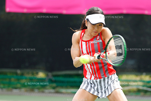 Miharu Imanishi (JPN), <br /> SEPTEMBER 11, 2017 - Tennis : <br /> Japan Women's Open Tennis 2017 <br /> match between <br /> Danka Kovinic - Miharu Imanishi <br /> at Ariake Tennis Park in Tokyo, Japan. <br /> (Photo by Yohei Osada/AFLO)