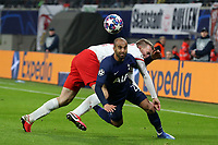 Lukas Klostermann of RB Leipzig and Lucas of Tottenham Hotspur during RB Leipzig vs Tottenham Hotspur, UEFA Champions League Football at the Red Bull Arena on 10th March 2020