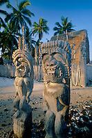 Hale O Keawe Heiau<br /> Pu'uhonua O Honaunau National Historical Park<br /> (City of Refuge)<br /> Island of Hawaii,  Hawaii