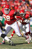 Chiefs guard Will Shields in action against the Ravens at Arrowhead Stadium in Kansas City, Missouri on December 10, 2006. Baltimore won 20-10.