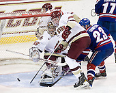 Parker Milner (BC - 35), Patch Alber (BC - 27), Jimmy Hayes (BC - 10), Shayne Thompson (Lowell - 23) - The Boston College Eagles defeated the visiting University of Massachusetts-Lowell River Hawks 5-3 (EN) on Saturday, January 22, 2011, at Conte Forum in Chestnut Hill, Massachusetts.