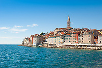 The seafront at Rovinj, Istria County, Croatia