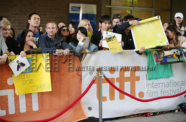 Fans attend the 'Battle of the Sexesl' premiere during the 2017 Toronto International Film Festival at Ryerson Theatre on September 10, 2017 in Toronto, Canada.