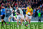 Brendan O'Sullivan South Kerry in action against Shaun Keane Legion at the Kerry County Senior Football Final at Fitzgerald Stadium on Sunday.