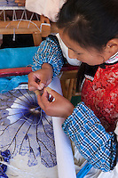 World class embroidery is created in the small village of Baisha, Yunnan province.