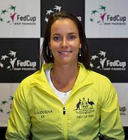 April 15, 2015, Netherlands, Den Bosch, Maaspoort, Fedcup Netherlands-Australia,    Jarmila Gajdosova (AUS)<br /> Photo: Tennisimages/Henk Koster
