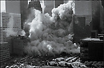 South Tower collapse, Battery Park City, Chambers Street, September 11, 2001..2001 © Vincent LOPRETO / CONTACT Press Images