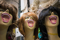 June 10, 2014 - Tehran, Iran. Mannequins in are seen lined up in the gran bazaar. © Thomas Cristofoletti / Ruom