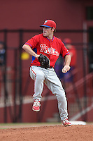 Philadelphia Phillies pitcher Joey Denato (67) during a minor league spring training intrasquad game on March 27, 2015 at the Carpenter Complex in Clearwater, Florida.  (Mike Janes/Four Seam Images)