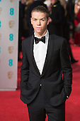 London, UK. 14 February 2016. Actor Will Poulter. Red carpet arrivals for the 69th EE British Academy Film Awards, BAFTAs, at the Royal Opera House. © Vibrant Pictures/Alamy Live News