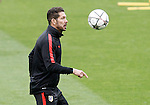 Atletico de Madrid's coach Diego Pablo Cholo Simeone during training session. April 4,2016.(ALTERPHOTOS/Acero)