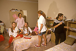 Swiss Finishing School Montreux Switzerland Surval Mont-Fleuri a girls private fee paying boarding school, In a girls dormitory  1990S