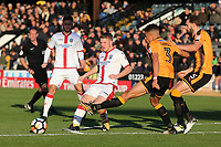 Tommy Wright of Sutton and Jake Carroll of Cambridge during Cambridge United vs Sutton United , Emirates FA Cup Football at the Cambs Glass Stadium on 5th November 2017
