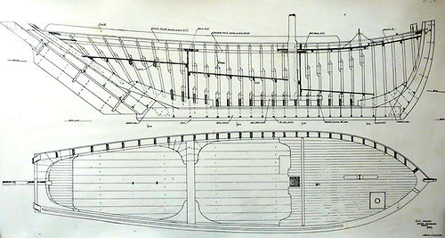 traditional plans with the boat levelled along the line of the keel