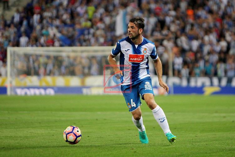 League Santander 2016/2017. Game: 2.<br /> RCD Espanyol vs Malaga CF: 2-2.<br /> Victor Sanchez.